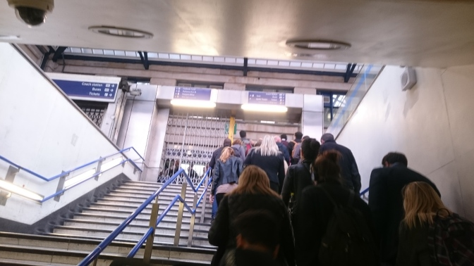 Congestion at Victoria station caused entirely by station staff